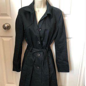 ☄EUC☄ Old Navy Black Trench Coat SMALL